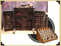 Apothecary cabinet.  I yearn for one of these.