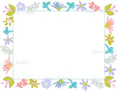 Flower Border Art For 85 X 11 Paper Instant By