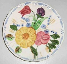 BLUE RIDGE POTTERY - GRANDMOTHERS GARDEN - SAUCER(s) 092412B