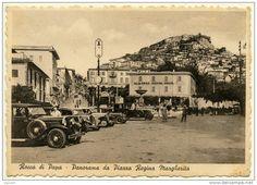 ROCCA DI PAPA PANORAMA DA PIAZZA REGINA MARGHERITA VECCHIE AUTO 1946