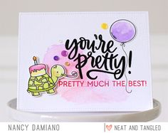 September 2017 Release Day 1: You're Pretty + Wild Orchid Sequins - Neat and Tangled