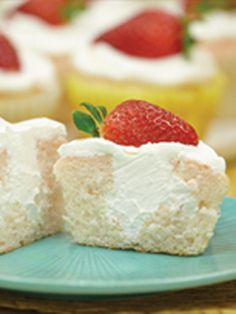 Strawberry-Lemonade Filled Cupcakes -- This scrumptious dessert recipe isn't actually filled with strawberry lemonade, but the creamy center will sure remind you of that refreshing drink!
