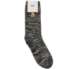 FOLK MELANGE SOCK - Black Melange - SockStyle.co.uk
