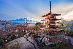 Edit Image #85829195: Chureito Pagoda with Mt.Fuji - iStock