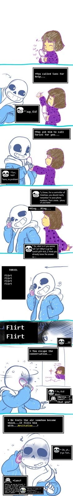 Undertale Little moments: Phony Call by perfectshadow06