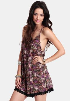 Caught Off Guard Printed Romper at #threadsence @ThreadSence