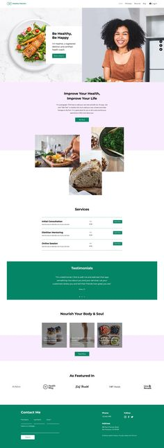 Dietitian Website | Wix Website Template