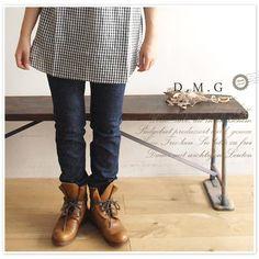 *【D.M.G/ドミンゴ】5P タイト ストレート デニム パンツ(dmg11-157a)