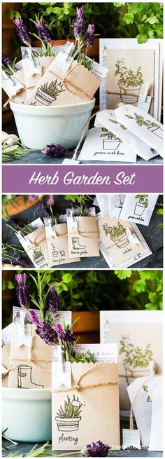 Garden Nook, Herb Garden, Seed Packaging, Lavender Tea, 2nd Anniversary, Doodle Designs, Wedding Favours, Diy Favours, Seed Packets