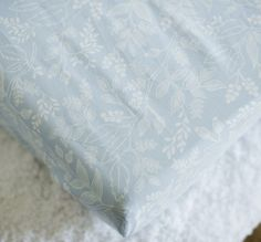 Queen Anne Blue Changing Pad Cover