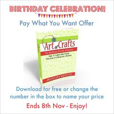 To say thank you to all my lovely readers and to celebrate my Birthday next Saturday - this week I am offering The Big Book of Craft Interviews on a 'pay what you want offer'. You can download the book for free or change the figure in the box to name your price. Enjoy! http://art-of-crafts.net/the-big-book-of-craft-interviews-volume-1/