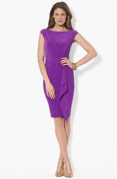 Lauren Ralph Lauren Side Twist Matte Jersey Dress