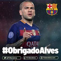Send your messages of thanks with the hashtag #ObrigadoAlves Envia els teus missatges d'agraïment amb l'etiqueta #ObrigadoAlves Envía tus mensajes de agradecimiento con la etiqueta #ObrigadoAlves #FCBarcelona #Alves #igersFCB @fcbarcelona @danid2ois