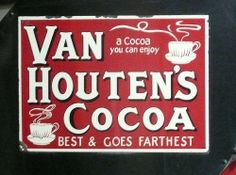 Enjoy Van Houtens Cocoa by Terry Pinnegar Photography, Typical Dutch Food, Dutch Recipes, Visual Diary, Hot Chocolate, Cocoa, Van Houtens, Treats, Tin Signs, General Store
