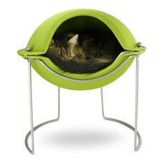 {Pet Pod Bed - Green} this is so Jetsons! ;)