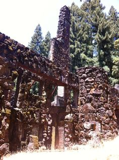 Wolf House Ruins, Jack London State Park in the Valley of the Moon, Glen Ellen CA