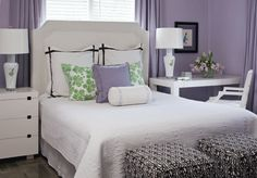 Lovely Bedroom with Purple walls and accents...