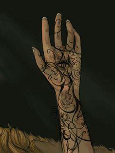 ... e um grande olho tinha sido tatuado no centro da minha mão ...