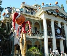 see the Haunted Mansion in Disney Land when it's Nightmare Before Christmas Themed