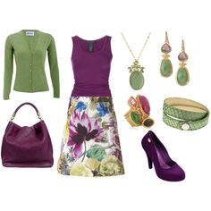 """""""Purple and Green"""" by yellowbells on Polyvore"""