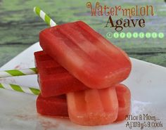 watermelon agave popsicles