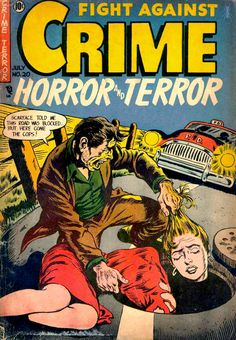 Crime comics | Uh, probably not for kids.