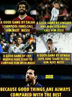 True like this😃😃😃 Cristiano Messi, Messi Vs Ronaldo, Messi Pictures, Messi Photos, Funny Soccer Memes, Sports Memes, Funny Memes, Messi Soccer, Soccer Sports