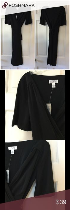 """🆕 LOFT jersey wrap dress Rayon/polyester with polyester lining. Machine wash. Underarm across 15"""". Length 41"""". Brand new with tag. LOFT Dresses"""