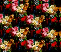 baroque flowers fabric by ariellelouise on Spoonflower - custom fabric