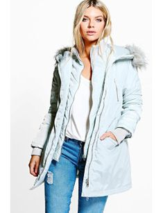 boutique-imogen-luxe-double-layered-parka by boohoo. #fashionablecoats #womensjackets #stylish #shoptagr