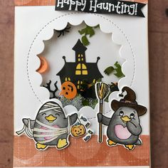 #handmadecard  #coloring  #distressinks  #yournextstamp  #halloweencard  #shakercard