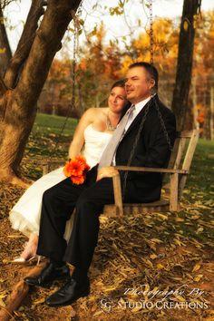 Bride and Groom, sunset, tree swing, vineyard, Fall Wedding