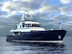 Welcome to Seaton Yachts - Custom Built Trawler Yachts & Ships by Stephen R. Yacht Design, Boat Design, Trawler Yacht, Trawler Boats, Cruiser Boat, Cabin Cruiser, Big Yachts, Super Yachts, Ski Nautique