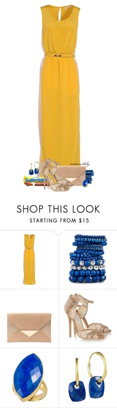 """""""Don't Lay a Finger..."""" by autumnsbaby ❤ liked on Polyvore featuring Pieces, Jimmy Choo and Didi Jewellery"""