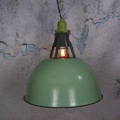 Vintage mint green industrial lights factory light