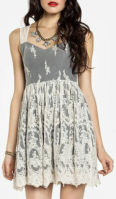 Glamorous Embroidered Fit and Flare Dress