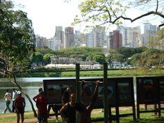 City Park in downtown Sao Paulo, Brazil