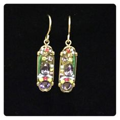 """Stunning Firefly """"Hope and Dream"""" Earrings ✨New! Made in Guatemala. Firefly presents stunning pieces of jewelry comprising Austrian crystals & Czech glass beads with an intricate mosaic design. Firefly creates two collections a year with fresh new colors to compliment the seasons. Juan Carlos Chavajay Vasquez is the designer. Firefly Jewelry Earrings"""