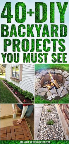DIY Backyard Projects and Garden Ideas ! The Best DIY backyard decor ideas that you can literally transform your backyard garden looks! Patio Diy, Backyard Patio, Sloped Backyard, Diy Garden Projects, Diy Garden Decor, Best Diy Projects, Wood Projects, Diy Terrasse, Diy On A Budget