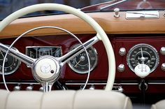 Inside of an old Mercedes-Benz by sollyth, via Flickr