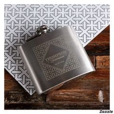 Black Leather Wallet w/ Stainless Steel Hip Flask Personalised Hip Flask, Personalized Wedding Gifts, Personalized Products, Wedding Gifts For Groomsmen, Groomsman Gifts, Wood Gift Box, Wood Gifts, Paper Gift Bags, Paper Gifts