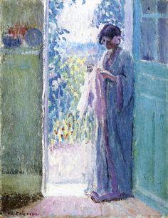 Frederick C. Frieseke - Woman in a doorway (1912 - 1914)