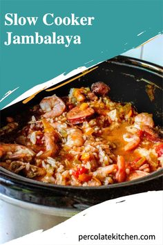 Crockpot Jambalaya is an easy, throw-it-in-and-let-it-do-its-thang kind of simple slow cooker dinner that these days is right up my alley. Check out how we make it for the whole family! Best Crockpot Recipes, Crockpot Dishes, Slow Cooker Recipes, Healthy Slow Cooker, Best Slow Cooker, Easy Dinner Recipes, Dinner Ideas, Slow Cooker Jambalaya, One Pot Dinners