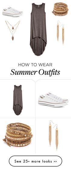 """""""Summer Outfit"""" by alexis-roberts-i on Polyvore featuring H&M, Converse, Chan Luu and Dorothy Perkins"""