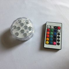 10 LED RGB Remote Controlled Submersible LED Light