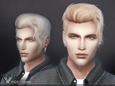 Sims 4 Updates: TSR - Hairstyles, New Hair Mesh : Male hair OS1208 by wingssims, Custom Content Download!