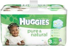 Huggies Pure & Natural Diapers - Big Pack - Size 3 - 70 ct - http://babymart.org/product/huggies-pure-natural-diapers-big-pack-size-3-70-ct/