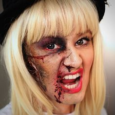 How to create a realistic zombie Halloween costume -- add flair by making it a celebrity zombie! (In this case, it's Taylor Swift.)