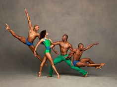 """Ailey's 2014 North American Tour kicks off in less than two weeks. Do you have your tickets yet? www.alvinailey.org/2014-north-american-tour Antonio Douthit-Boyd, Alicia Graf Mack, Jamar Roberts and Kirven Douthit-Boyd. Photo by Andrew Eccles. Found on """"Alvin Ailey American Dance Theater Facebook page: https://www.facebook.com/AlvinAileyAmericanDanceTheater"""