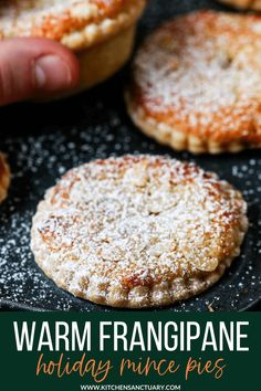 The best mince pies are these Frangipane Mince Pies with homemade pastry - serve warm or cold for a delicious traditional Christmas snack. #mincepies #frangipane #christmasfood Fruit Cake Cookies Recipe, Sugar Cookie Recipe Easy, Easy Cookie Recipes, Dessert Recipes, Easy Recipes, Desserts, Christmas Snacks, Xmas Food, Christmas Cooking
